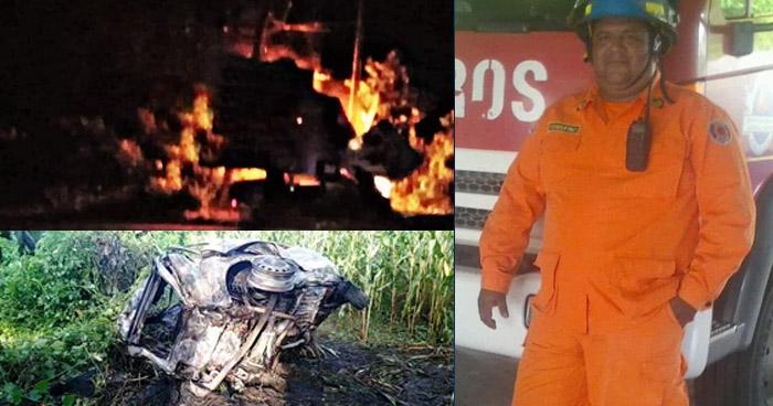 Bombero muere en fatal accidente en Concepción Batres, Usulután - Solo Noticias El Salvador
