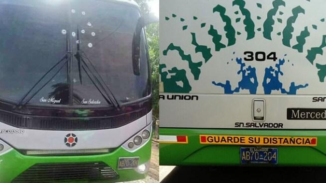 Criminales ametrallan a bus de la ruta 304 en San Vicente
