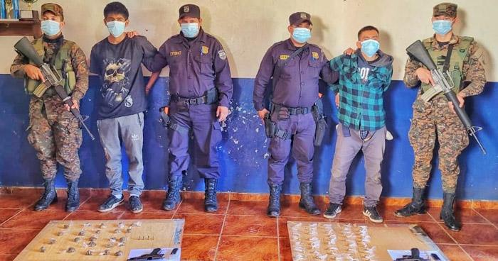 Cabecillas de la MS capturados cuando distribuían drogas en Nahuizalco