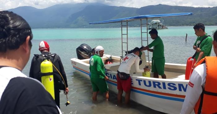 Buscan cadáver de un hombre que se ahogó en el Lago de Coatepeque