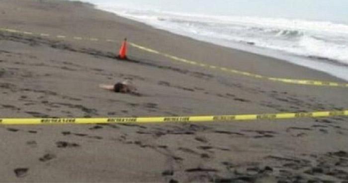 Encuentran cadáver de una mujer en playa El Almendro, Sonsonate