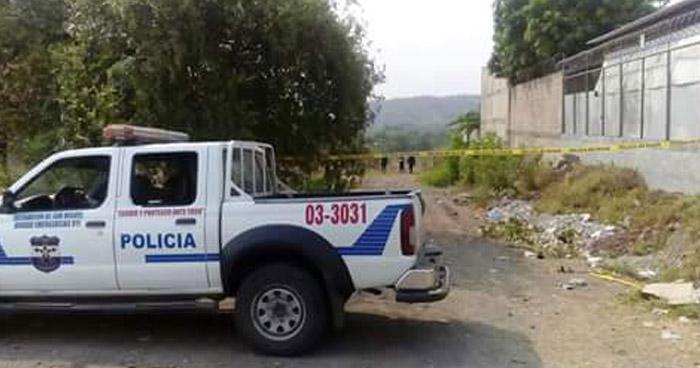 Encuentran cadáver de un joven que fue privado de libertad ayer en San Miguel