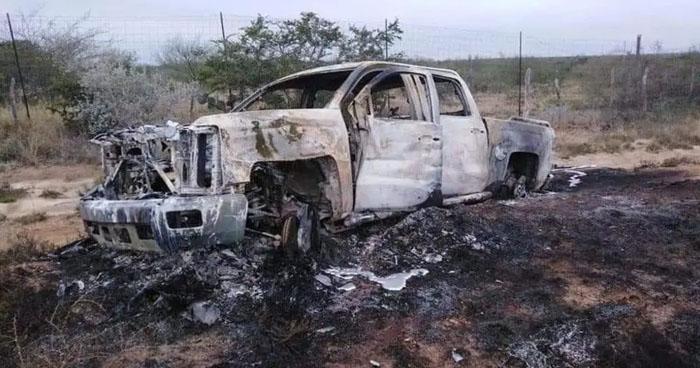Localizan 20 cuerpos y vehículos calcinados en Miguel Alemán, Tamaulipas