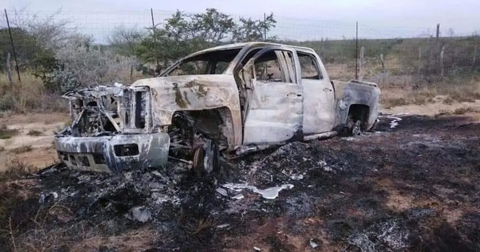 21 cadáveres calcinados en diferentes vehículos fueron encontrados en Tamaulipas, México