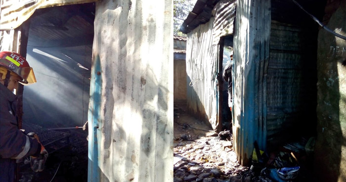 Muere calcinado al incendiarse su vivienda en Zacatecoluca