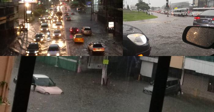 Precaución: Estas son las calles que quedaron inundadas por la fuerte de lluvia de esta tarde