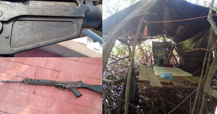 Desarticulan campamento de la Pandilla 18S en Jiquilisco, Usulután