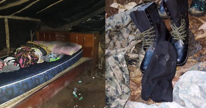 Desmantelan campamentos de pandilleros en zona rural de Morazán
