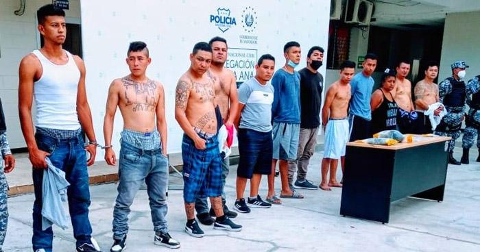 Capturan a 12 pandilleros que operaban en el occidente del país