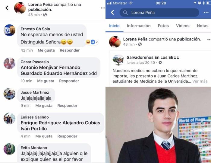 captura comentarios y publicacion lorena pena - Burlas a Lorena Peña por compartir nota fake de actor para adultos.