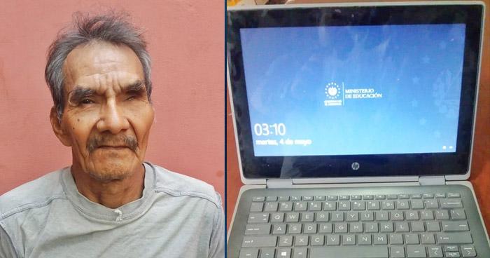 Capturado por robar computadora entregada por el Gobierno