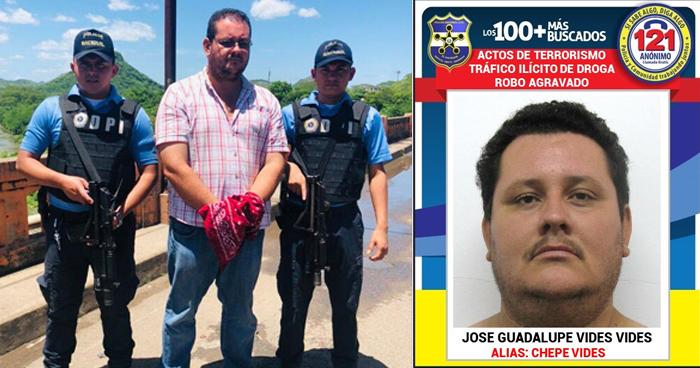 Capturan en Honduras a pandillero salvadoreño de la lista de los 100 Más Buscados