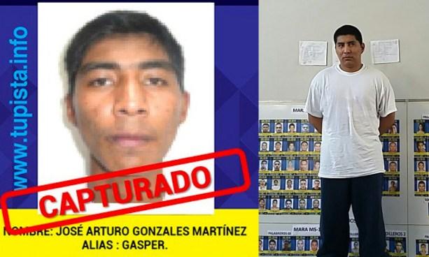 """""""Gasper"""" es el capturado número 100 de los Más Buscados en El Salvador"""