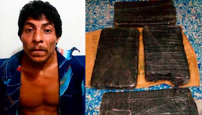 Sujeto que era buscado por homicidio es capturado cuando cargaba un saco lleno de droga en Ahuachapán
