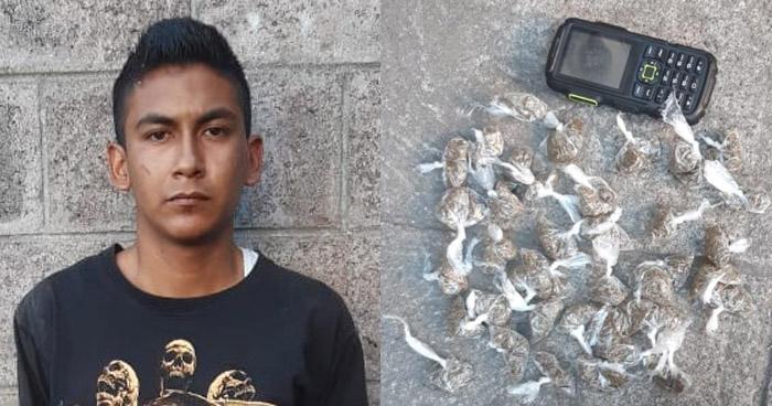 Capturan a pandillero cuando distribuía drogas en Soyapango