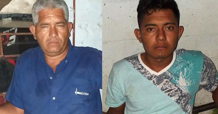 Padre e hijo capturados por intentar agredir a un agente de la PNC