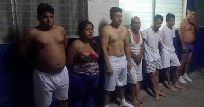 Siete capturados durante operativos en Guazapa y Apopa