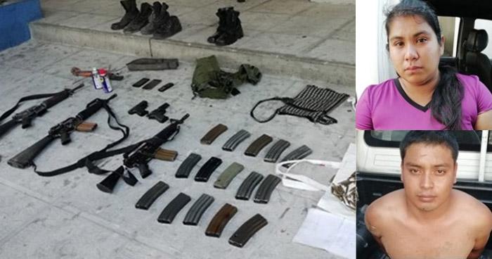 Descubren a jóvenes cuando transportaban armas de guerra y objetos ilegales en calle al Boquerón
