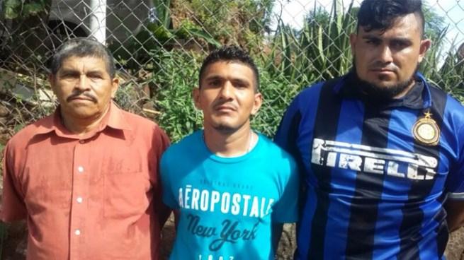 Capturan a tres hombres y les decomisan armas de fuego en Conchagua, La Unión