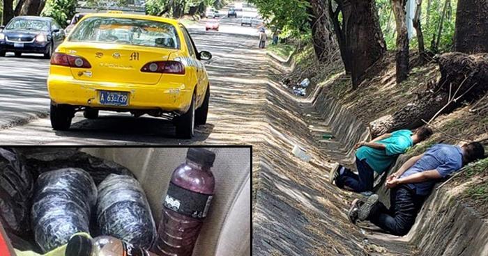 Capturan a sujetos que transportaban droga en un taxi en San Miguel
