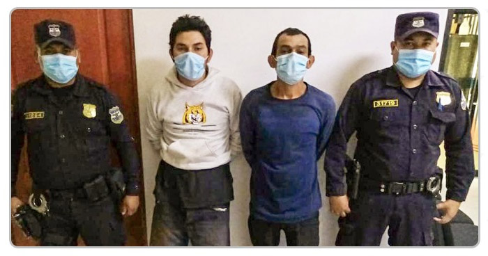 Capturados por hurtar caja de encomiendas en Ahuachapán