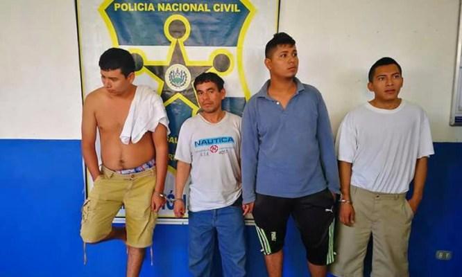 Capturan a cuatro sujetos sospechosos de estar vinculados a un homicidio en Morazán