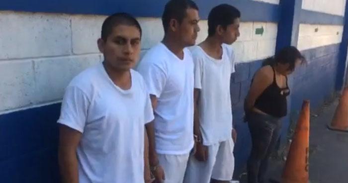 Capturan a miembros de una banda de asaltantes que operaba en Nahuizalco, Sonsonate
