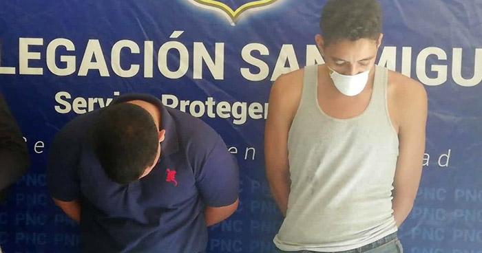 Capturan a pandilleros buscados por un asesinato cometido en San Miguel