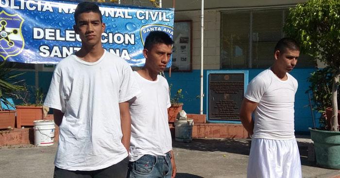 Pandilleros y vigilante que lesionó a una policía fueron capturados en Santa Ana