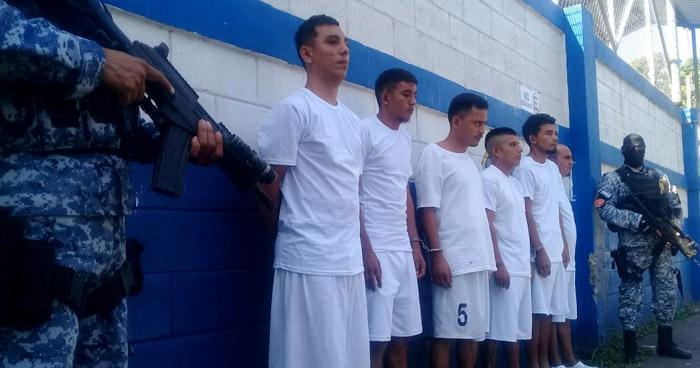 Capturan a pandilleros que operaban en Acajutla, Sonsonate