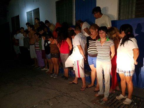 27 capturados durante operativo policial en Cuscatancingo