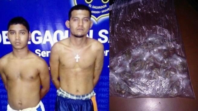 Dos hombres con varias porciones de marihuana fueron capturados en San Miguel