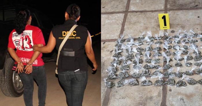 Capturan a salvadoreña por narcomenudeo en Guatemala