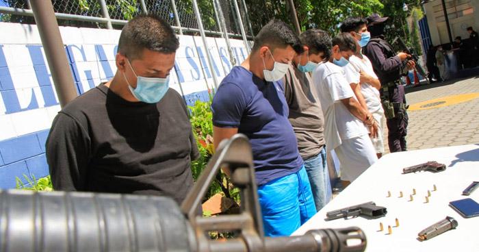 Capturados por portación de armas y homicidio en San Salvador