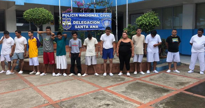 Capturan a 14 sujetos que delinquían en diferentes zonas de Chalchuapa y Santa Ana