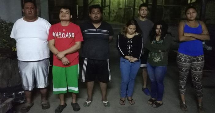 Capturan a 8 pandilleros que operaban en colonia de Soyapango