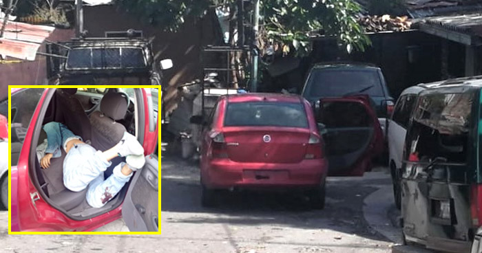 Encuentran vehículo con el cadáver de uno de los asaltantes de la ruta 117 de Apopa