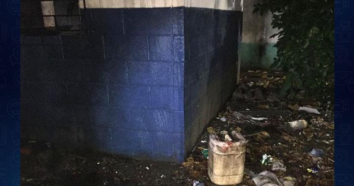 Sospechan que incendio en caseta policial fue provocado por pandilleros