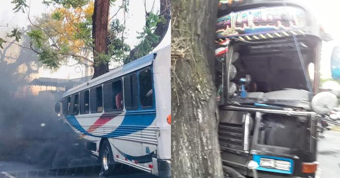 Varios lesionados tras choque de autobús en Alameda Manuel E. Araujo