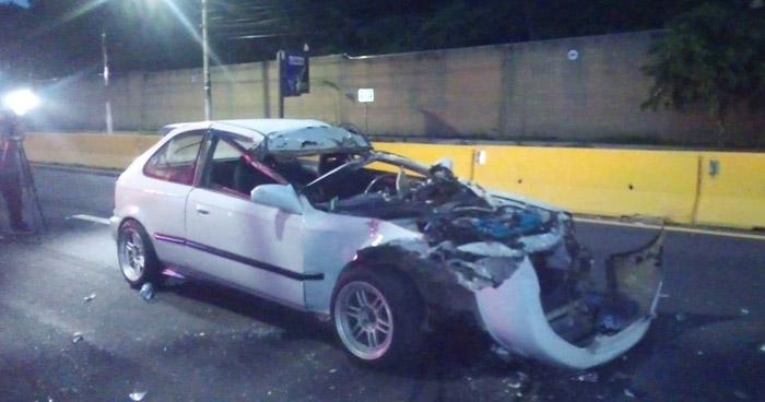 Tres lesionados tras fuerte accidente en Avenida Jerusalen