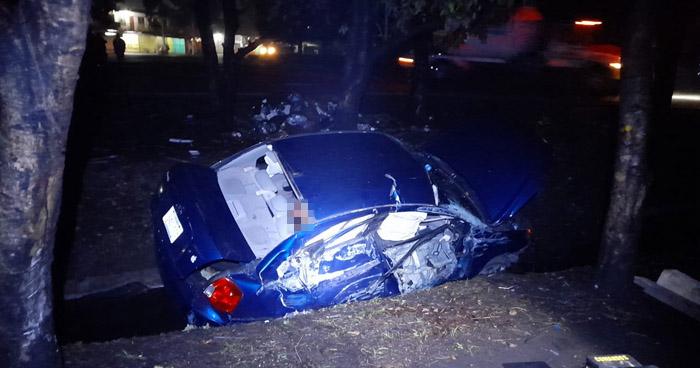 Un fallecido tras aparatoso accidente en desvío a San Juan Opico
