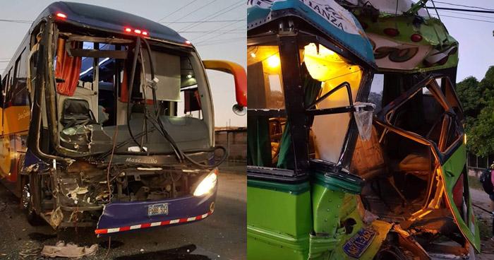 Autobús internacional choca contra Ruta 330 en carretera Ruta Militar, en La Unión