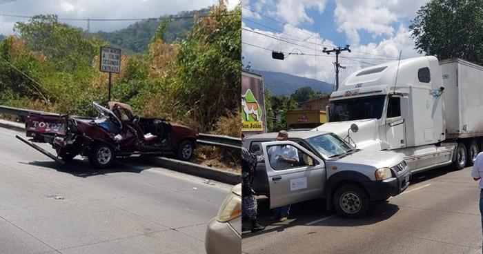 Cinco vehículos involucrados en nuevo choque sobre carretera Los Chorros
