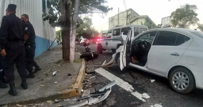 Conductor ebrio provoca accidente en Autopista Norte