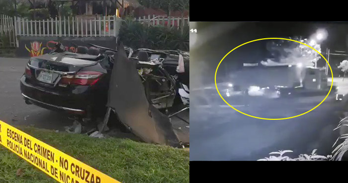 VIDEO | Salvadoreño muere tras impactar contra un furgón en carretera de Nicaragua