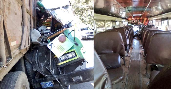 Motorista de Ruta 116 choca y deja 10 lesionados por disputar vía