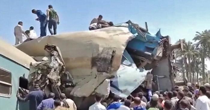 Al menos 30 fallecidos deja fatal choque de trenes en Egipto