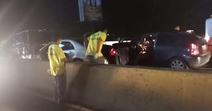 Un lesionado tras triple choque en carretera Troncal del Norte
