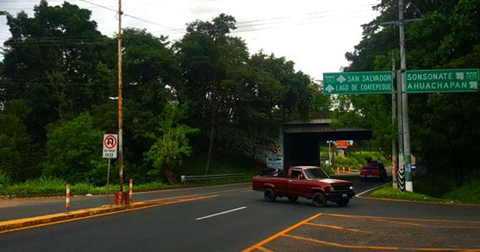 Anuncian cierre en carretera Panamericana, sentido que de Santa Ana conduce a San Salvador