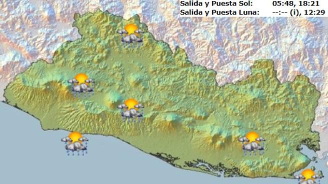 Posibilidad de lluvia principalmente en la zona occidental y costa oriental del país